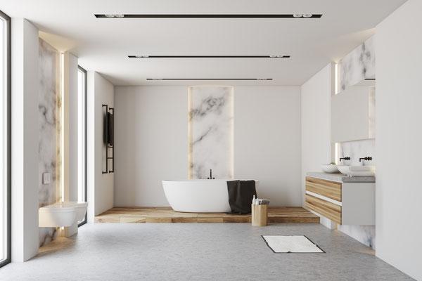3D Visualisierung Badezimmer