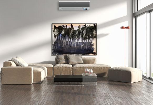 Wohnzimmervisualisierung
