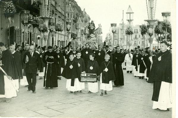 1952 FOTO TRIONE PROCESSIONE SANT'ANTONIO A BARI