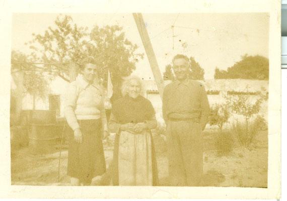 1942 FOTO MOSE' DE MARCO - ADELAIDE PILIEGO - COSIMA DE MARCO