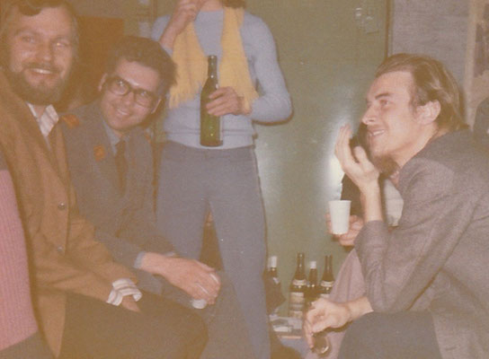 4b Abschlussfest 1972 - 4b closing party, on the left hand the French teacher in 1972