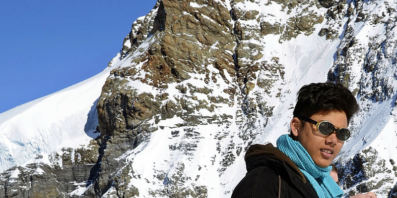 Thamiam am 02.03.2012 auf dem Jungfraujoch.