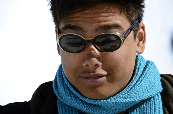 Thamiam am 02.03.2012 auf dem Jungfraujoch. Mit meiner Sonnenbrille :-)