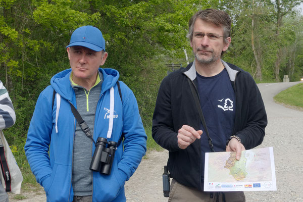 Luc Dietrich erklärt das Projekt Lagunensanierung