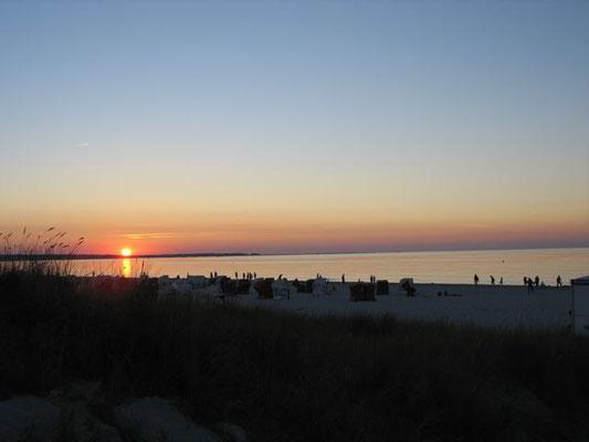 Sonnenuntergang am Strand von Prerow auf dem Darß