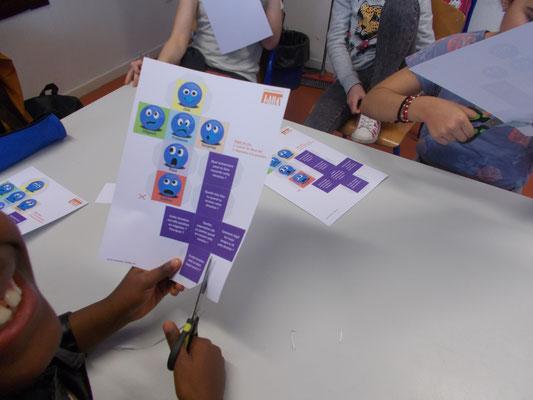 Création et jeu autour des dés à émotion, atelier philo avec les enfants, LaboPhilo