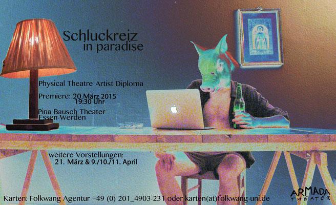 Schluckreiz in paradise / Armada Theater / Flyer by ©Clara Gohmert
