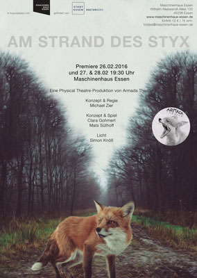 Armada Theater AM STRAN DES STYX Plakat ©Mats Süthoff