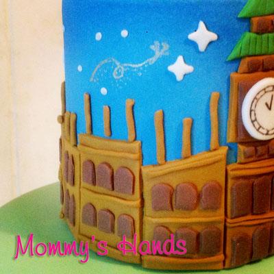 Torta Peter Pan in pasta di zucchero