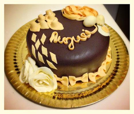 Torta romagnola in cioccolato plastico