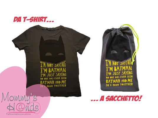 Da t-shirt a sacchetto per l'asilo