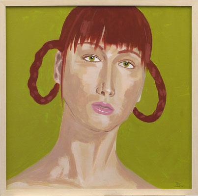 Astrid Bielmeier, Brigitta F., Acryl auf Malplatte, 60 x 60 cm, 2003