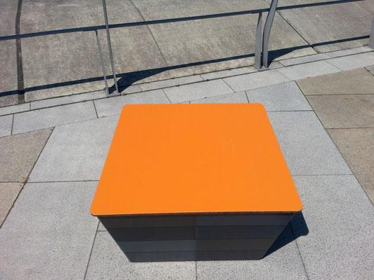 Calypso HPL Sitzbank / Sitzblock in Wunschmaß – Individualdekor für Deckplatte und Seitenverkleidung möglich!