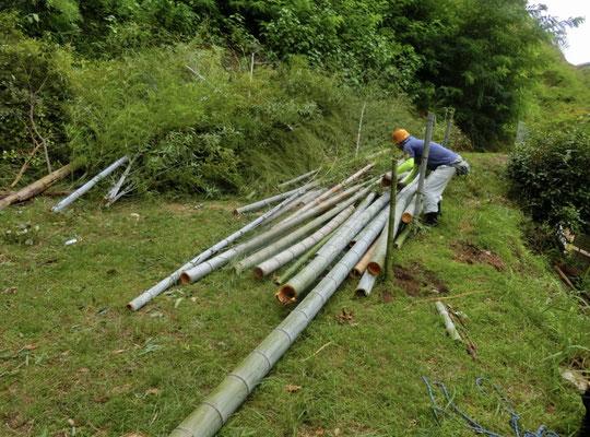 集積地の柵作り