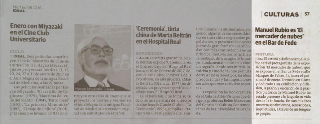 Ideal (Granada). 6 de diciembre de 2016