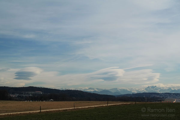Lenticular clouds over Alpstein and Glarner-Alps
