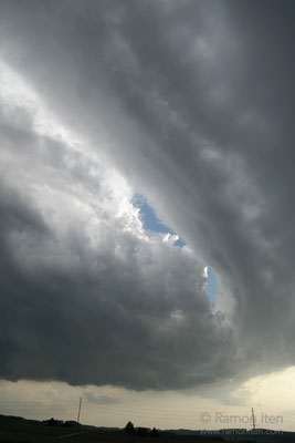 Fierce hailstorm at Rikon