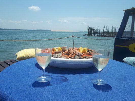 Dégustation d'huîtres sur Chaland