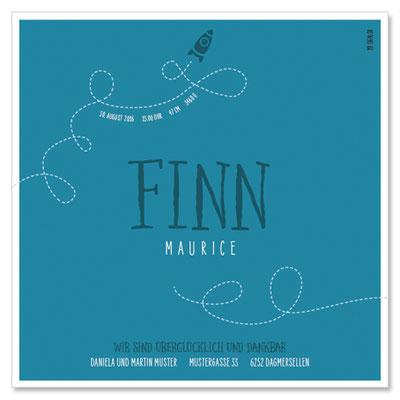 Finn Maurice: 1-seitig, 130×130 mm