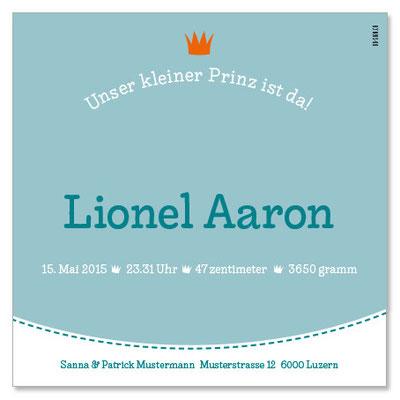 Lionel: 1-seitig, 130×130 mm    Passender Kreativstempel erhältlich