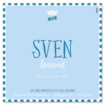 Sven Levent: 1-seitig, 130×130 mm