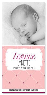 Zoanne: 1-seitig, 105×210 mm   Foto: © Nicole Ruffner-Racheter, www.babyaugenblick.ch