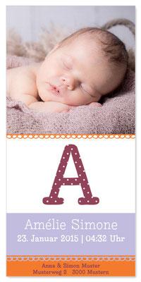 Amélie: 1-seitig, 105×210 mm   Foto: © Nicole Ruffner-Racheter, www.babyaugenblick.ch