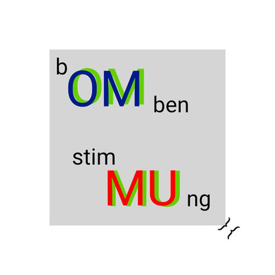 """(b)OM(ben stim)MU(ng) / BOMB MOOD"" / a belief in wholeness, perfection and the infinite (OM), but the answer is neither yes nor no (MU)"