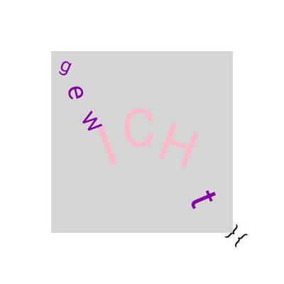"""ICH-Triptychon - links: """"gesICHt""""; mittig: """"GEDichT""""; rechts: """"gewICHt"""""""
