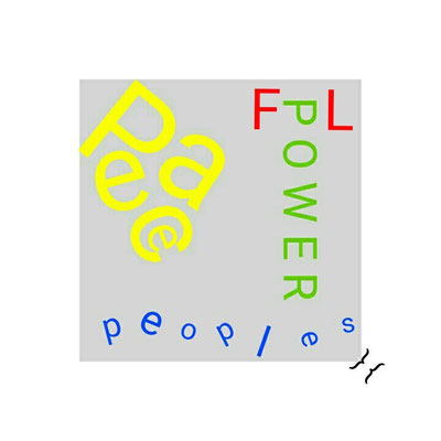 """THE PACE OF THE P/FL-OWER DEPENDS ON THE PEOPLES' PEACE"""