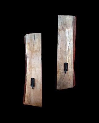 Kerzendou, 53 x 13,5 x 5,5 cm pro Teil (HxBxT), Esche, geölt, Preis auf Anfrage