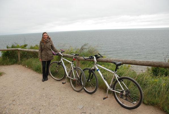 Rügen, sogar mit dem Rad war's einfach zu kalt und nieselig!