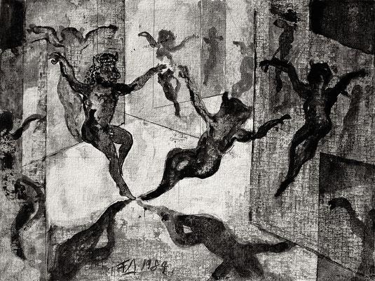 Illustration zur Ballade Minotaurus I, [Titel der Serie:]. Illustratin zur Ballade Minotaurus. Illustration pour la ballade « Minotaure »