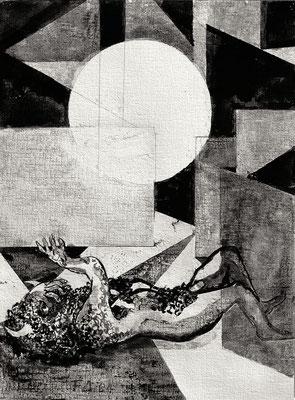 Illustration zur Ballade Minotaurus IV, [Titel der Serie:]. Illustratin zur Ballade Minotaurus. Illustration pour la ballade « Minotaure »