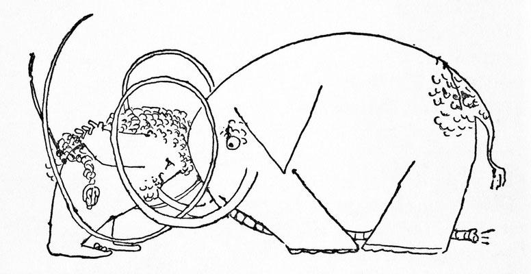 [Herkules, Kopf an Kopf mit Mammut] [Titel der Serie: « Herkules und der Stall des Augias »]