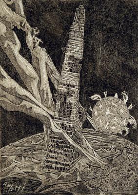 Turmbau I, [Titel der Serie:] Turmbau. Tour de Babel presque achevée, [titre de la série :] Turmbau