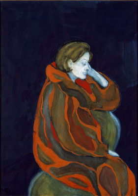 Die Frau im roten Mantel. Portrait Charlotte Kerr Dürenmatt