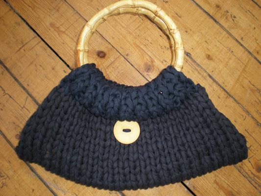 sac tricoté avec ances bambou