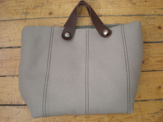 sac toile avec ances cuir