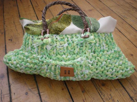 sac tricoté et doublé lin