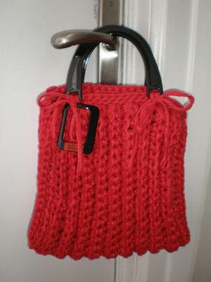 Sac tricoté au crochet
