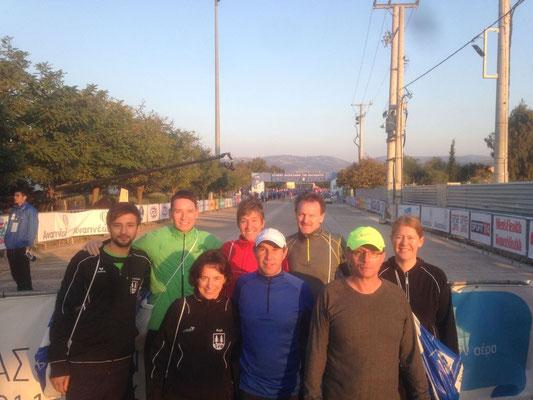 Teilnehmer beim Marathon in Athen