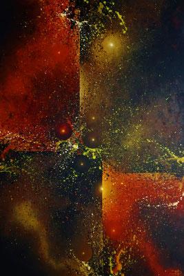 Taurus/Sternbild Stier (2021, Acryl auf Leinwand, 90x130mm)
