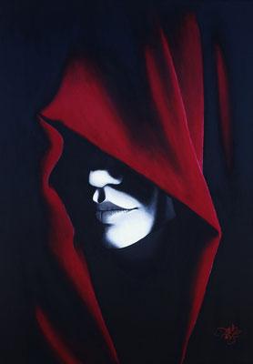 Red Hood (2016, Acryl auf Leinwand, 80x100cm) verkauft
