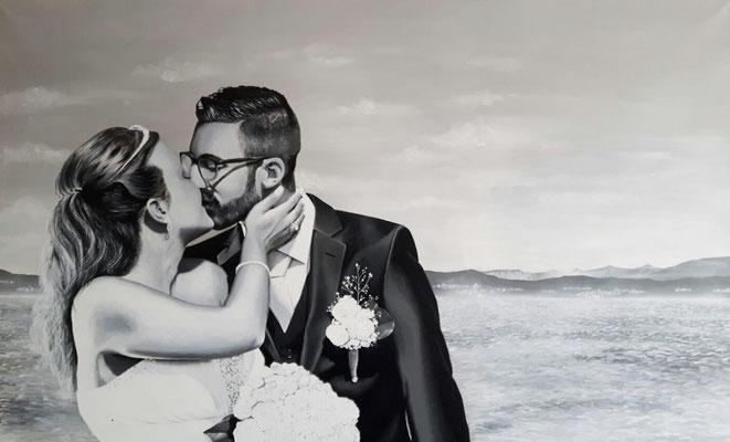 The Kiss (2016, Acryl auf Leinwand, 180x120cm) Auftragsarbeit