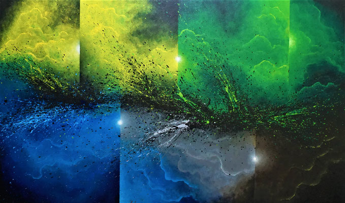 Abstract 3 (2021, Acryl auf Leinwand, 130x90cm)