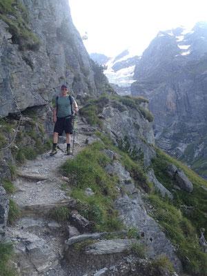 Im Abstieg von der Hütte