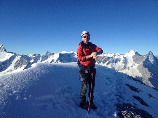 Am Gipfel vom Wetterhorn nach 4h Aufstieg