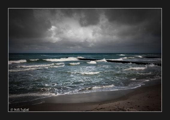 Windiges Wetter am Darß