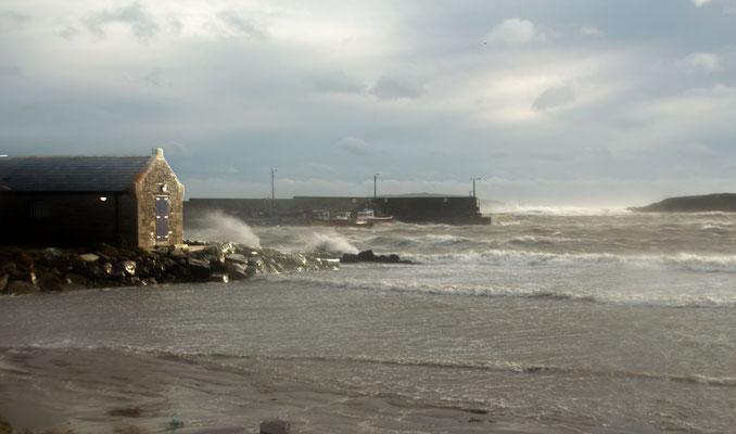 Loughshinny sea storm